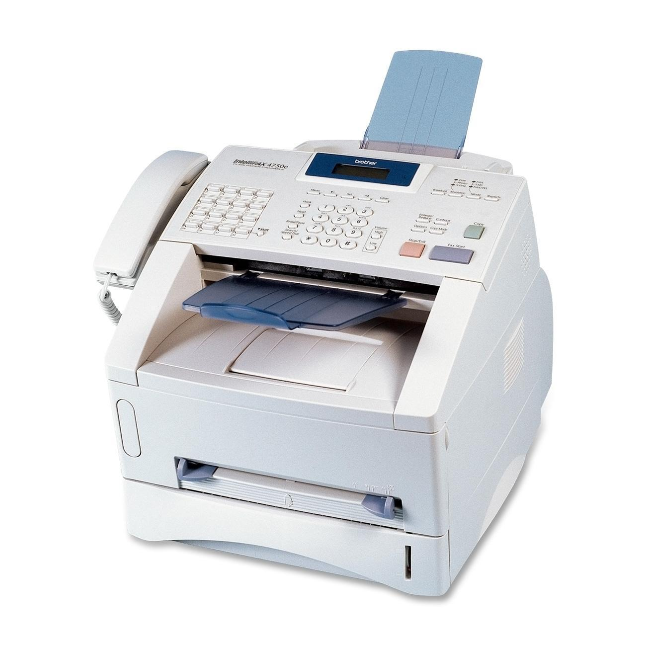 Brother IntelliFAX 4750e Laser Multifunction Printer - Monochrome - Plain Paper Print - Desktop, Off White