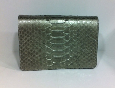 Bolso retro clunch plata