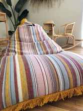Load image into Gallery viewer, Woven Stripe Bean Bag + Fringe