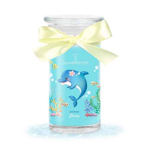 dolphin daisy scented candle with jewel jewelcandle product picture cut big de