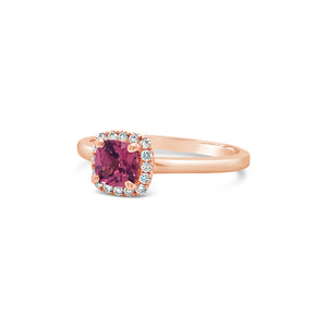 14k Rose Gold Rhodolite Garnet Ring