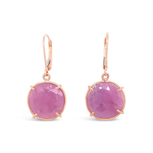14kr Gold Ruby Slice Dangle Earrings