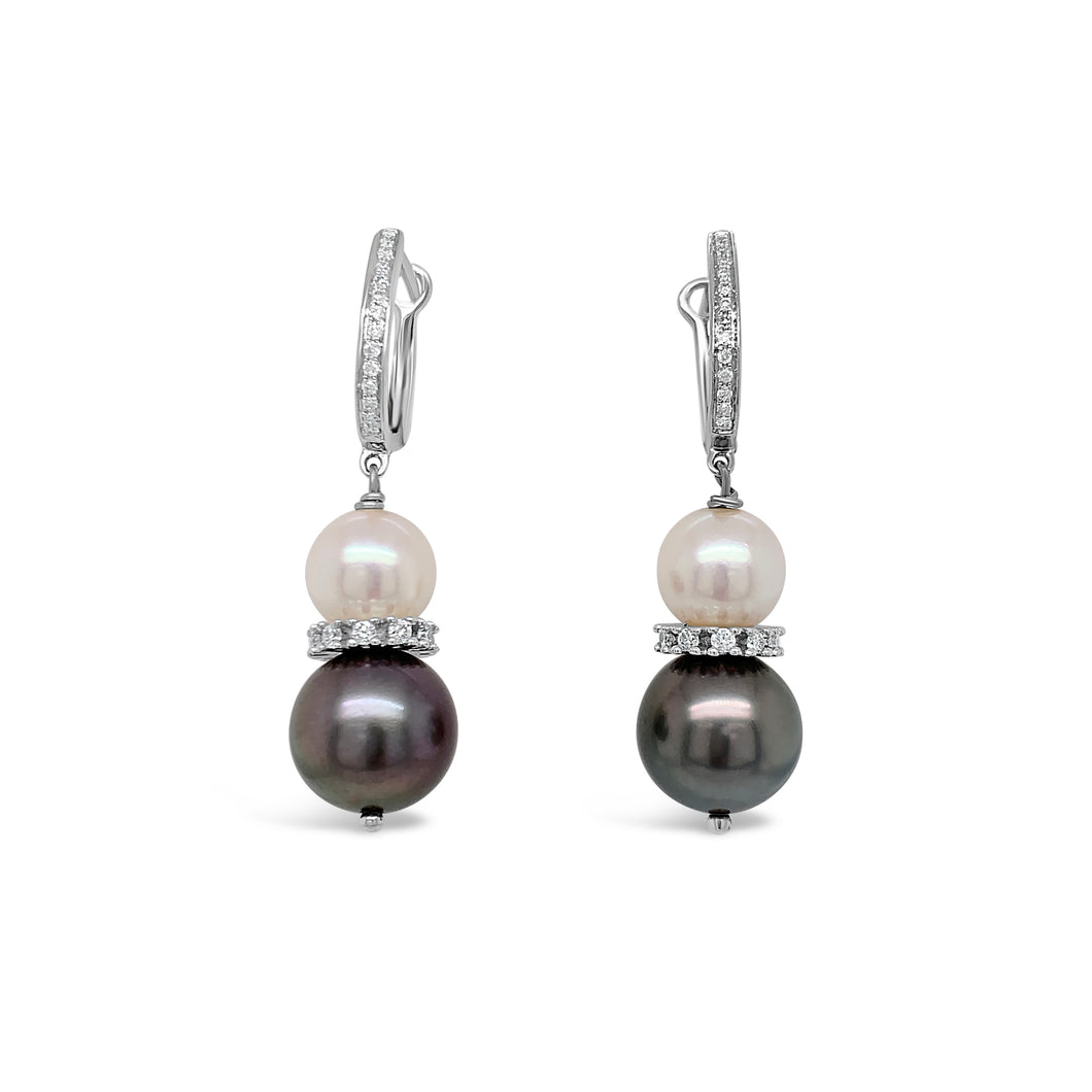 14kw Gold Cultured Pearl Earrings