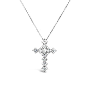 14kw Gold Diamond Cross Necklace