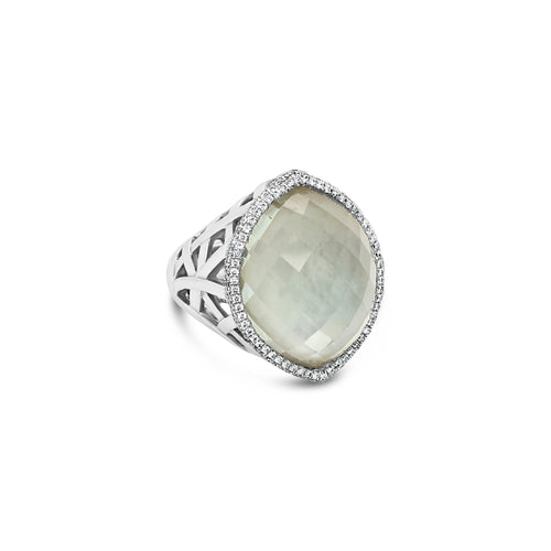 14kw Gold Green Amethyst Ring