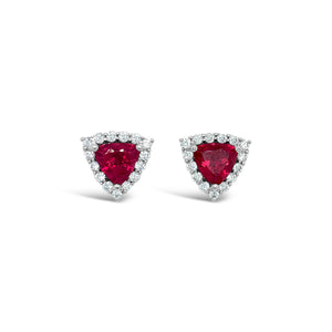 14kw Rubellite Tourmaline Earrings