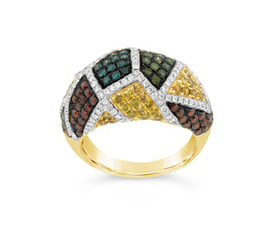 14ky Gold Multi Color Diamond Ring