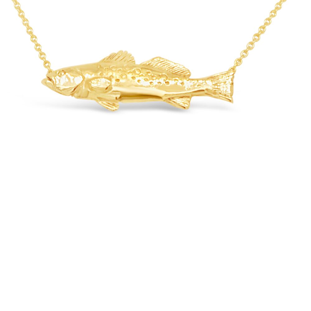 14ky Gold Speckled Trout Necklace