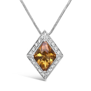 18kw Gold Citrine Necklace