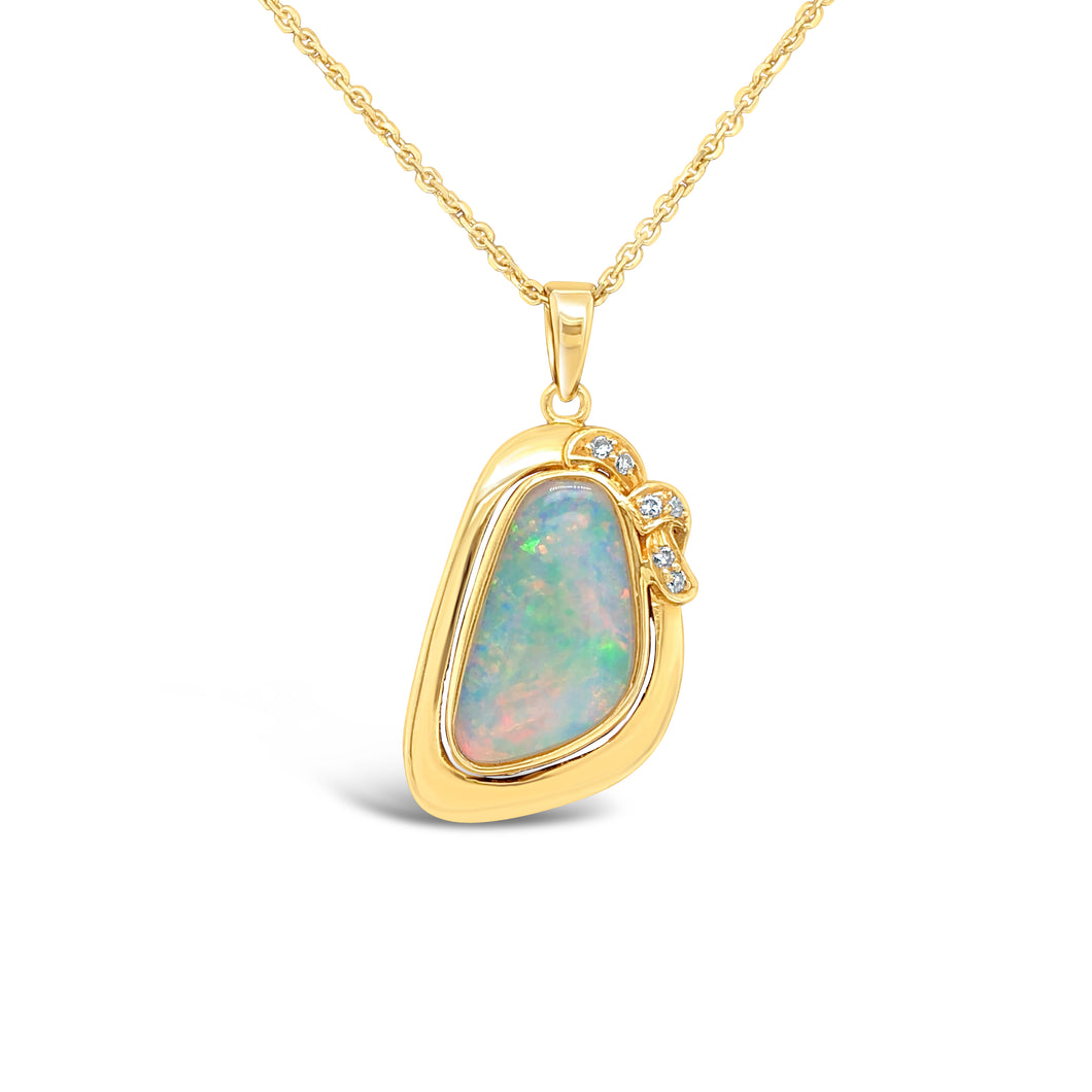 18ky Gold Australian Opal 18 Inch Necklace
