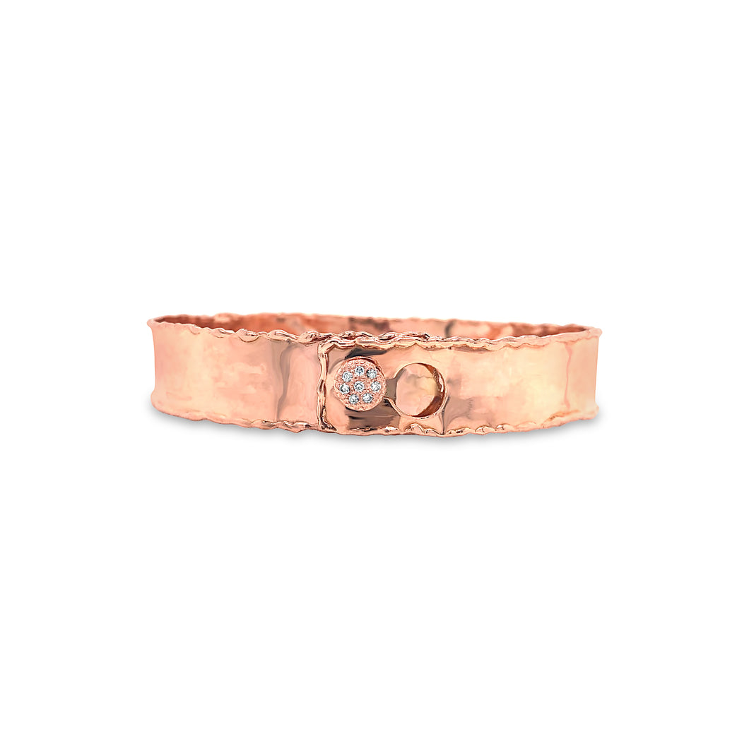 DP Custom Rose Gold Cuff w/diamonds