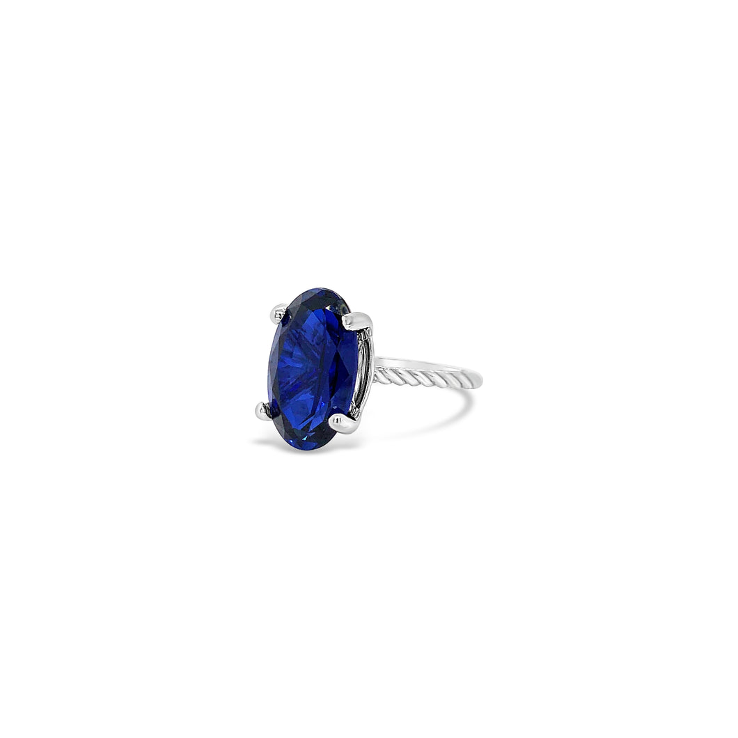 Lanytte Blue Sapphire Solitaire