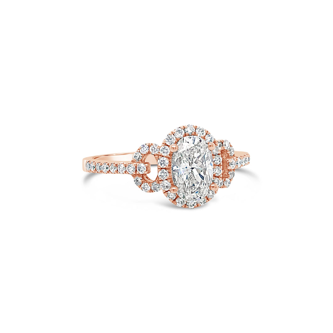 Oval Diamond in Rose Gold Ring