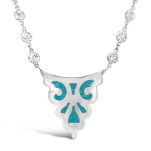 Sterling silver Turquoise Inlay Necklace
