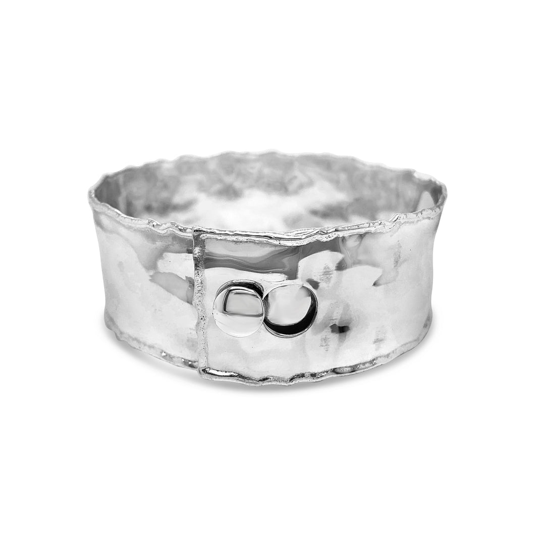 Original Design: 3/4 Inch Sterling Silver Original Rolled Edge Cuff
