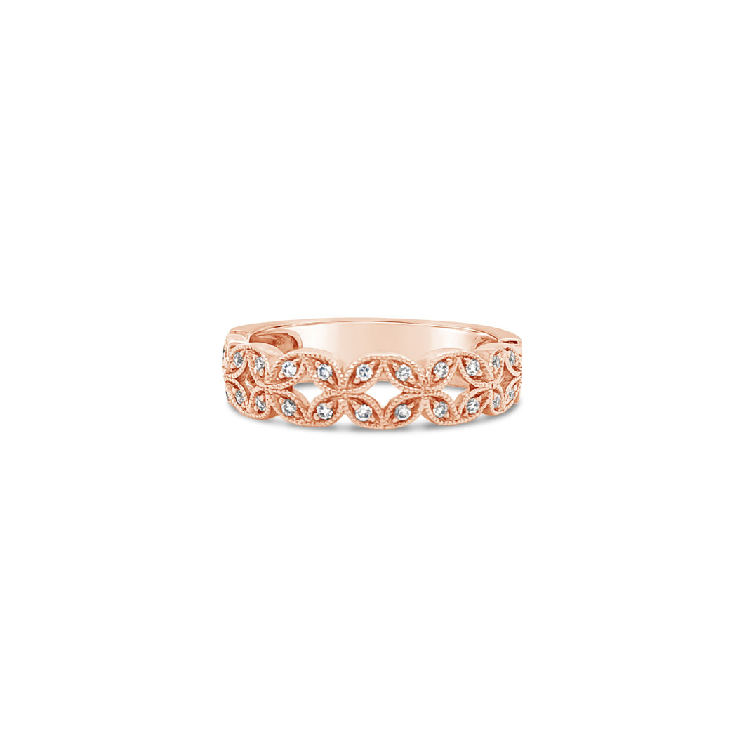 Rose Gold and Diamond Accent Band