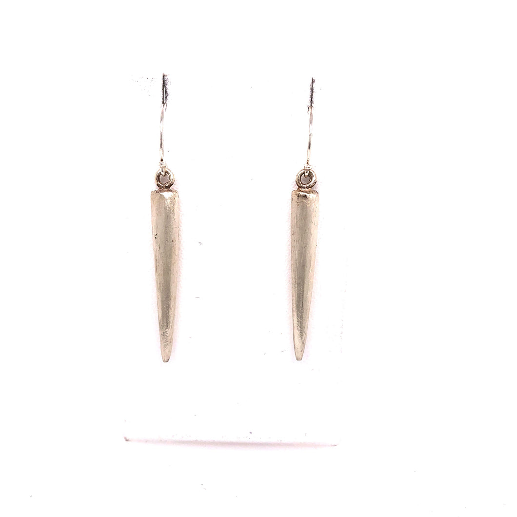 Satin Finish Spikes Dangle Earrings