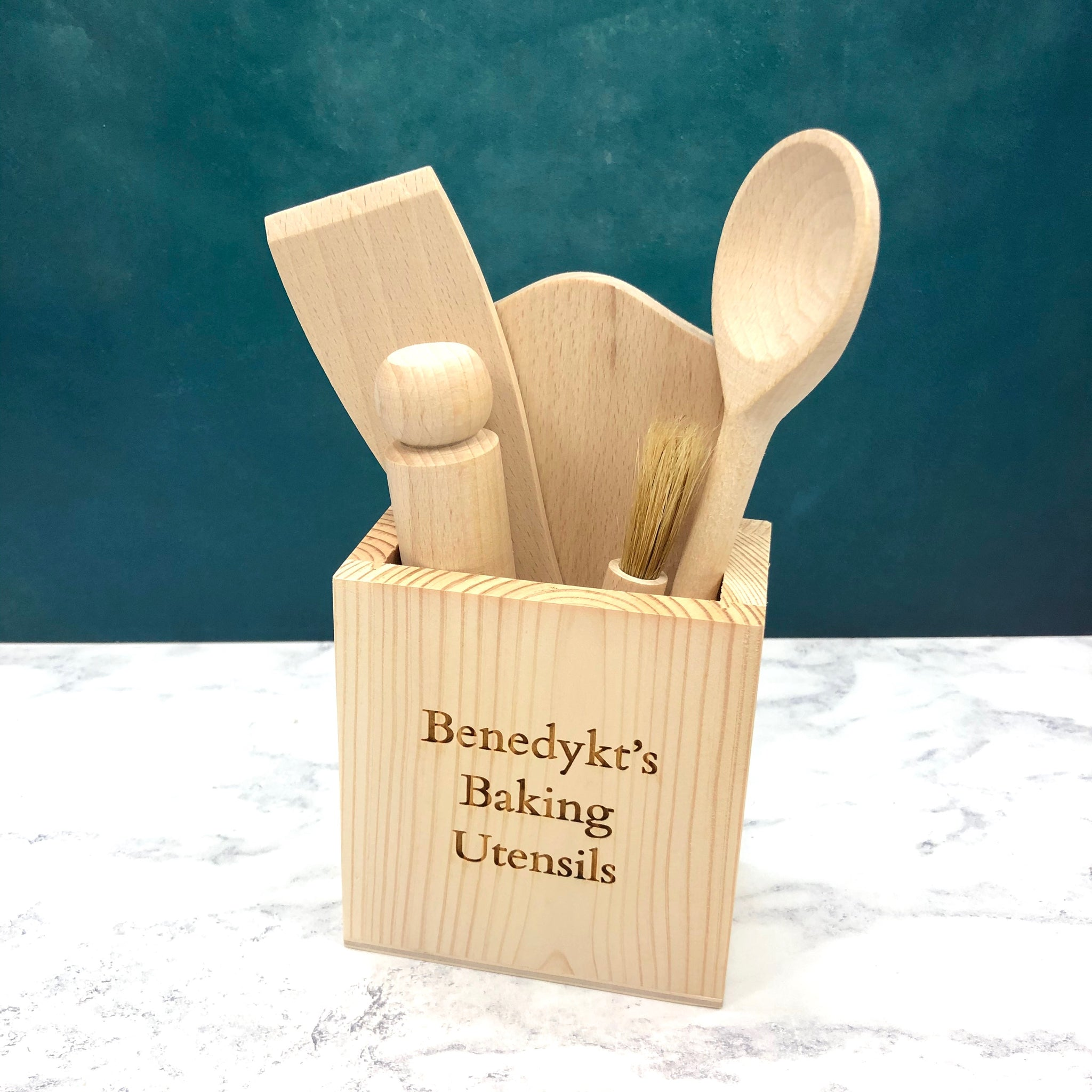 Children's Personalised Wooden Baking Set
