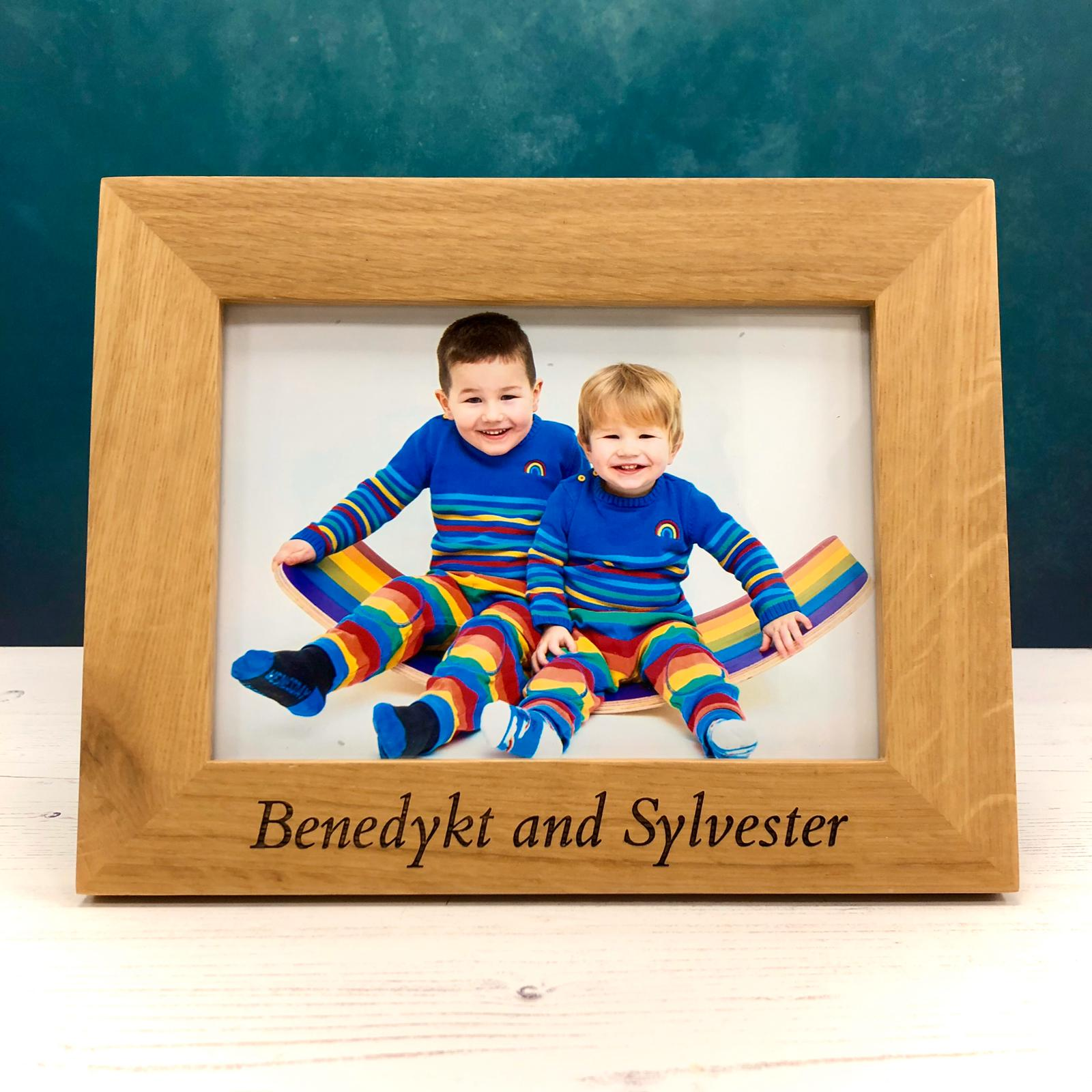 Solid Oak Personalised Photo Frame