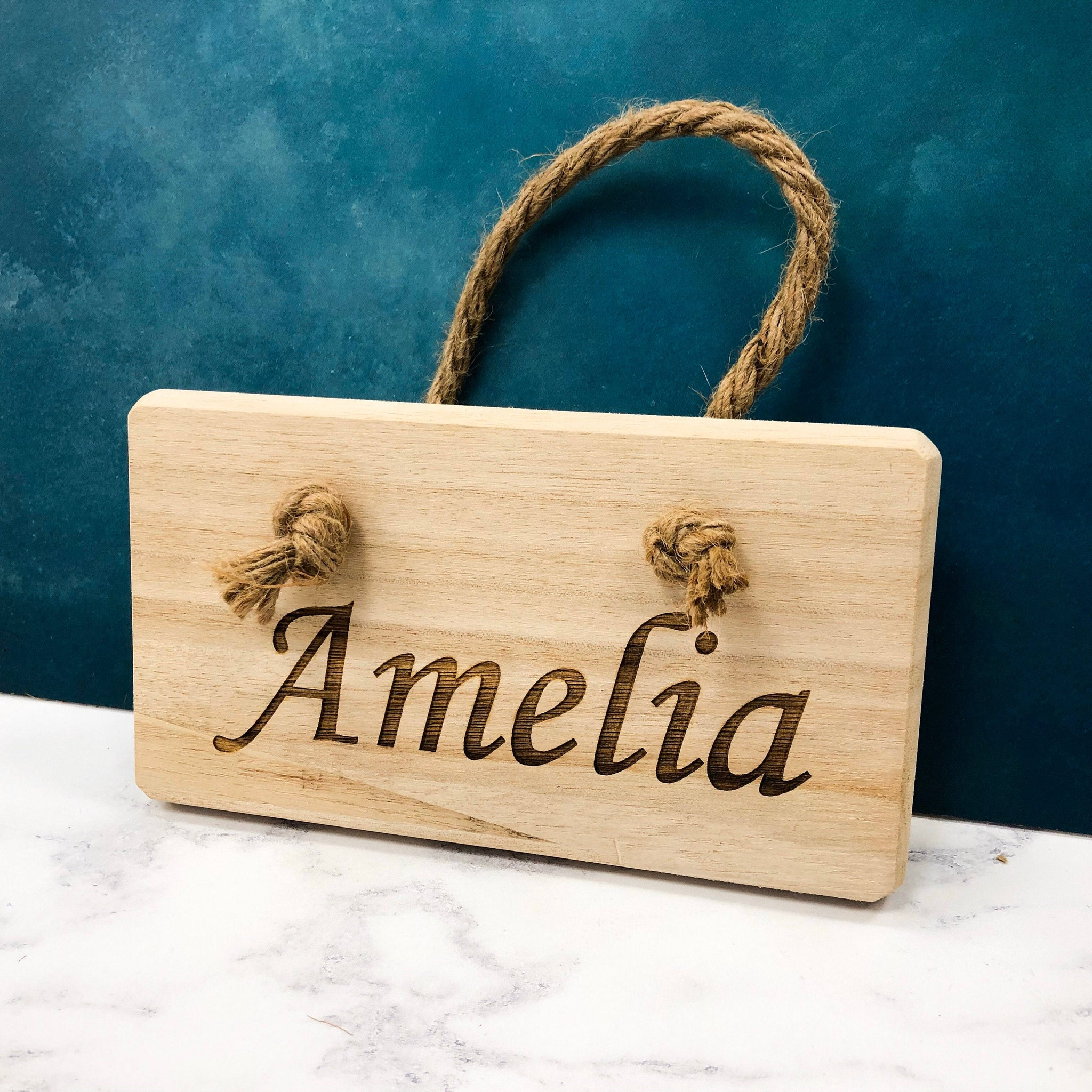 Personalised Name Plaque Children's Home Decor Bedroom Door Wall Hanger