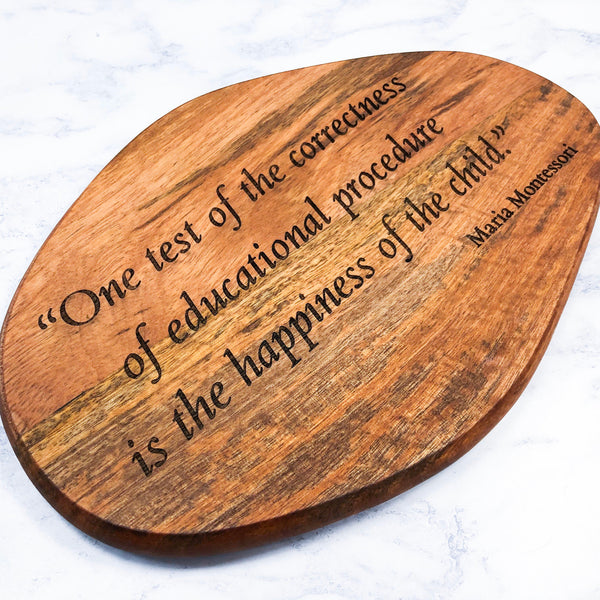 Maria Montessori Quote Decorative Board Display Piece