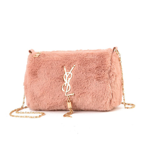 ATA 2020 New furry women bags fashion wild small fragrance wind cute plush chain slung shoulder