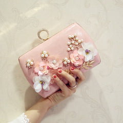 Ladies Flowers Clutch Women Party Ring Clutches Bags 2020
