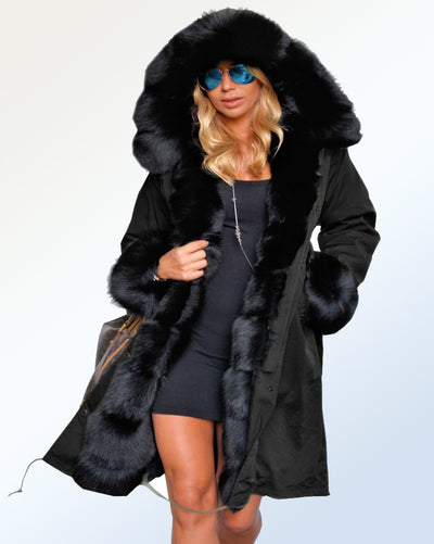 New Womens Long Faux Fur Hooded Padded Quilted Puffer Parka Jacket Coat 8-24