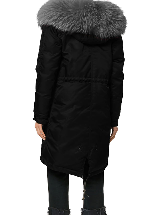 Women Winter Coat Fur Hood Puffer Thick Trimmed Padded Down Quilted Jacket Parka
