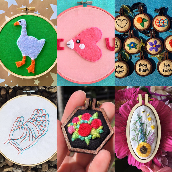 A selection of embroideries