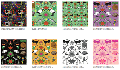 Examples of some of my repeating patterns on SPoonflower