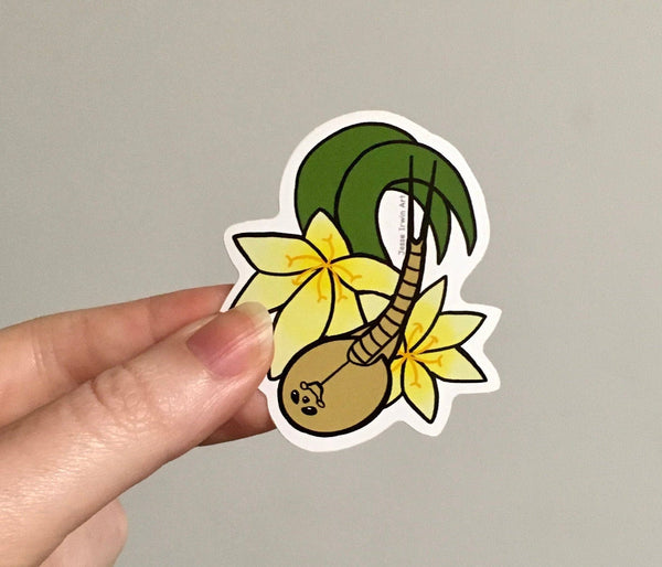 Shield Shrimp and Andamooka Lilies Vinyl Sticker - Triops - Australian Animals and Flowers - Die Cut Vinyl Sticker - Laptop Decal