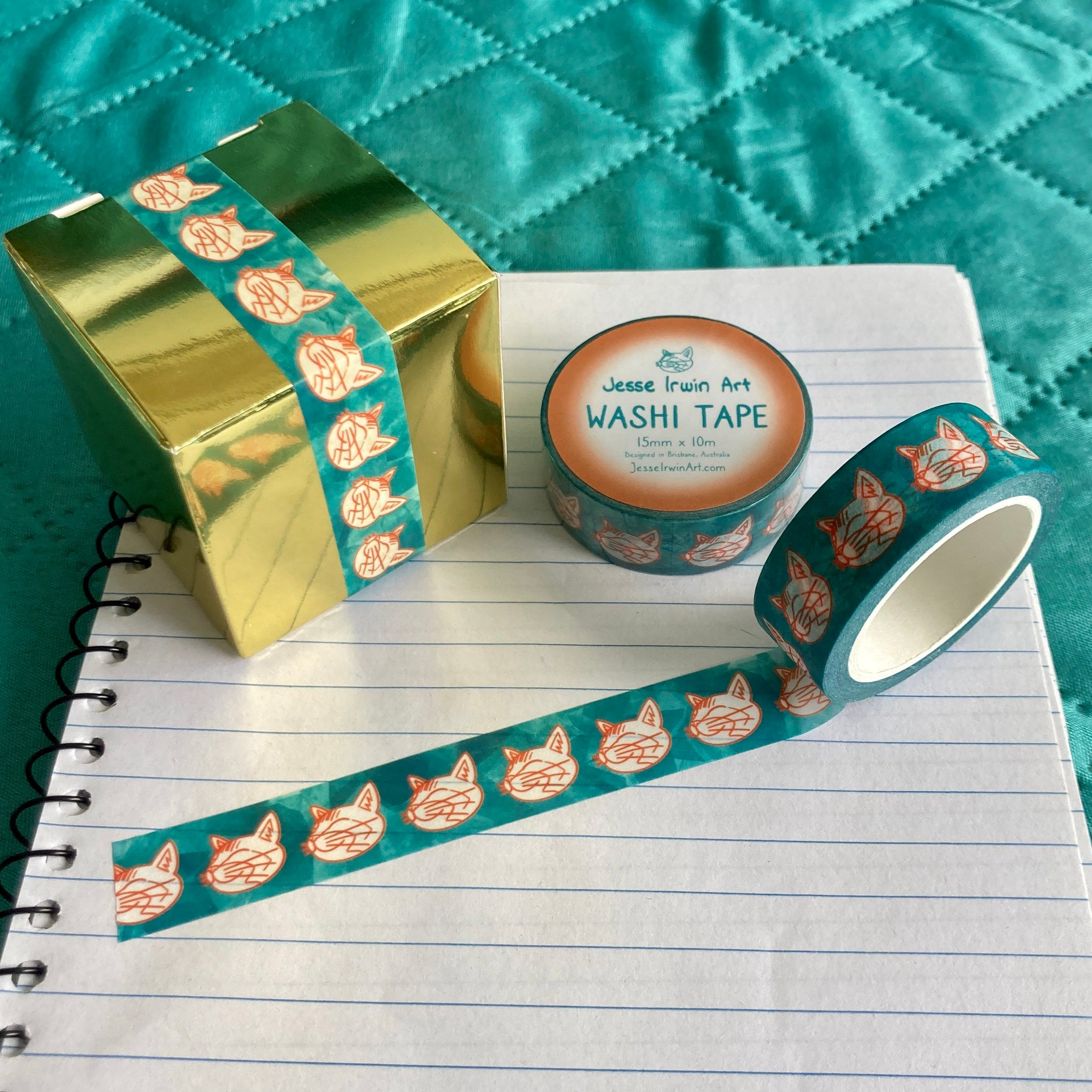 Crystal Cats Washi Tape - 15mm x 10m - Decorative Planner Tape