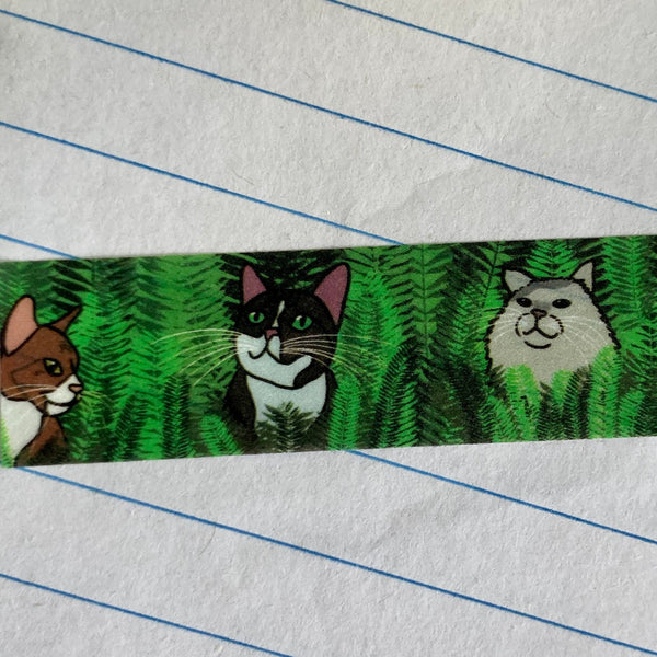 Twitter Cats Washi Tape - 15mm x 10m - Decorative Planner Tape