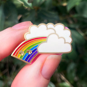 Rainbow Bridge - Pet Memorial - 30mm hard enamel pin