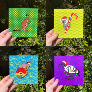 Mixed Four Pack of Funny Christmas Cards