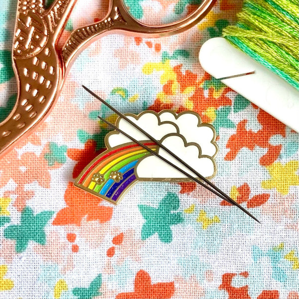 Magnetic Needleminder - Rainbow Bridge 30mm Hard Enamel Pin Converted to Needle Minder with Very Strong N50 Neodymium Magnets