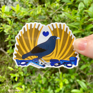 Satin Bowerbird Vinyl Sticker