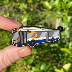 Brisbane Bus Acrylic Charm Ornament or Keychain