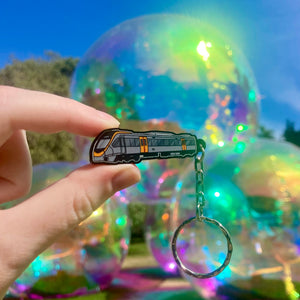 Brisbane NGR Train Acrylic Charm Ornament or Keychain