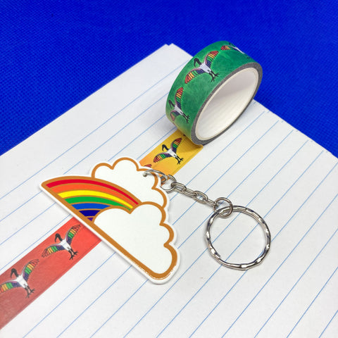Rainbow and Clouds Acrylic Washi Tape Cutter