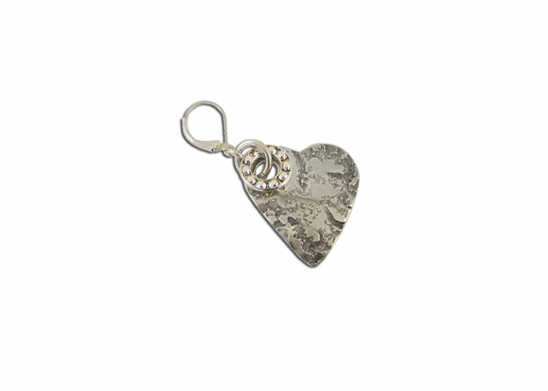 Weathered Heart Earring