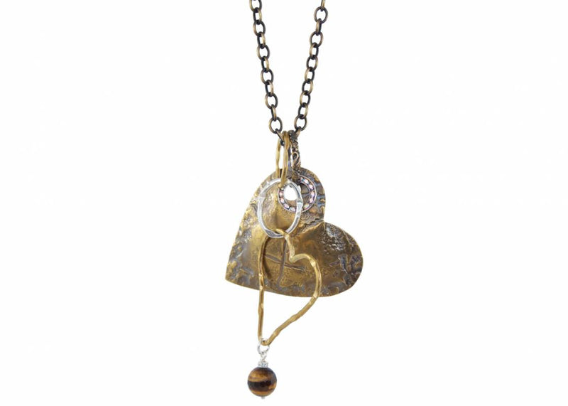 Weathered Heart Necklace