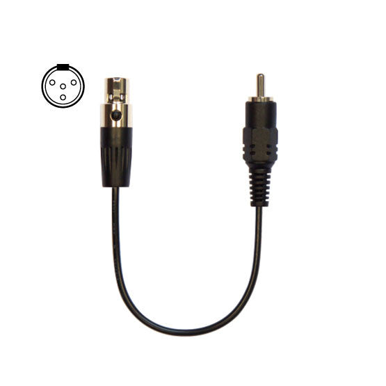 Cable with 4-pin mini-XLR (Mipro)