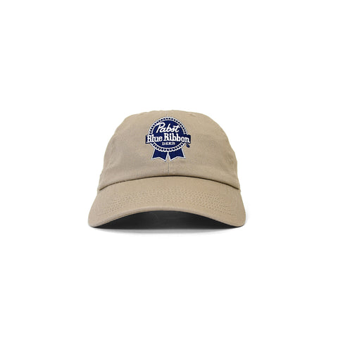 PABST BLUE RIBBON LOGO DAD HAT BEIGE