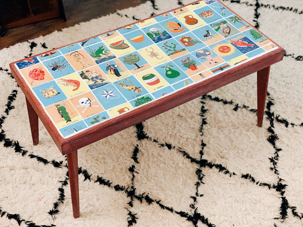 La Lotería Tiled Table