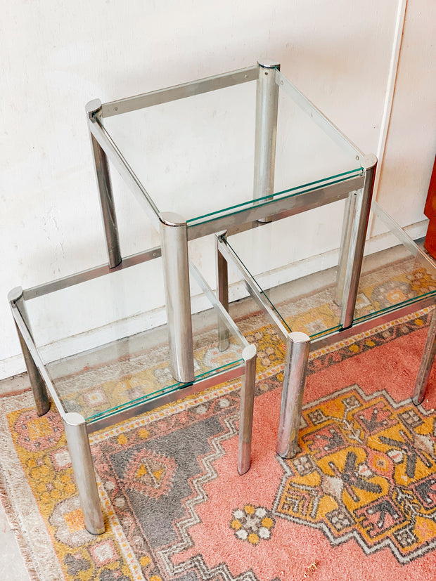 Glass Side Tables (priced per table)