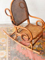 Child's Cane Rocking Chair
