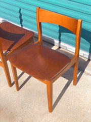 Mid Century Vinyl Dining Chairs (4 total)