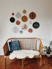 Mud Cloth Gallery Wall
